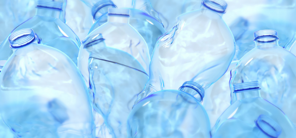Close up of plastic bottles